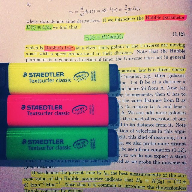 cosmology-highlighters