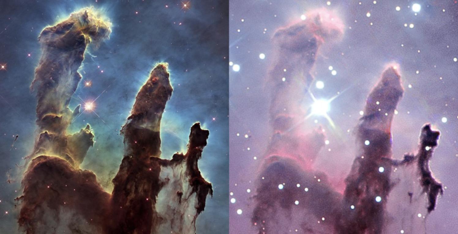 4cd1474e Bilder: NASA, ESA, and the Hubble Heritage Team (STScI/AURA) (venstre), og  ESO (høyre)